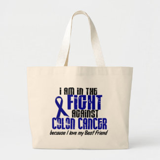 COLON CANCER In The Fight For My Best Friend 1 Tote Bags