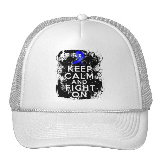 Colon Cancer Keep Calm and Fight On Hats
