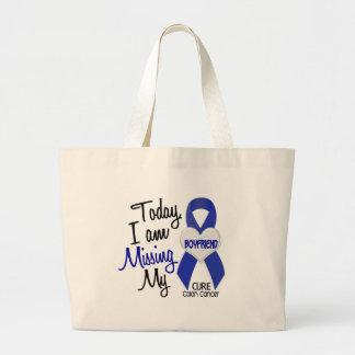 Colon Cancer MISSING MY BOYFRIEND Jumbo Tote Bag