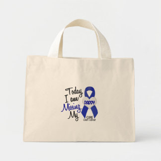 Colon Cancer MISSING MY DADDY Mini Tote Bag