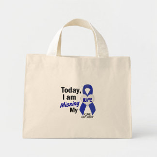 Colon Cancer MISSING MY WIFE Mini Tote Bag