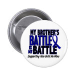 Colon Cancer MY BATTLE TOO 1 Brother Badges