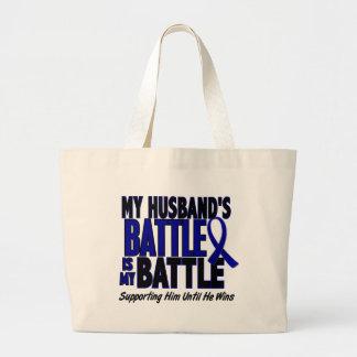 Colon Cancer MY BATTLE TOO 1 Husband Jumbo Tote Bag