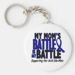 Colon Cancer MY BATTLE TOO 1 Mum Key Chain