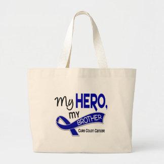 Colon Cancer MY HERO MY BROTHER 42 Jumbo Tote Bag