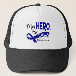 Colon Cancer MY HERO MY DAD 42 Trucker Hat