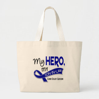 Colon Cancer MY HERO MY SON-IN-LAW 42 Jumbo Tote Bag