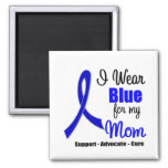 Colon Cancer Ribbon For My Mum Square Magnet