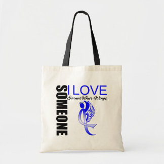 Colon Cancer Someone I Love Earned Their Wings Tote Bags