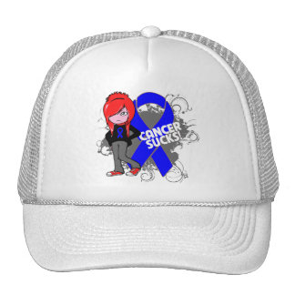 Colon Cancer Sucks Mesh Hats