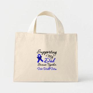Colon Cancer Support (Dad) Mini Tote Bag