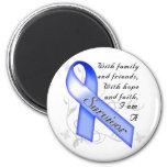 Colon Cancer Survivor 6 Cm Round Magnet