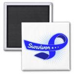Colon Cancer Survivor Ribbon Square Magnet