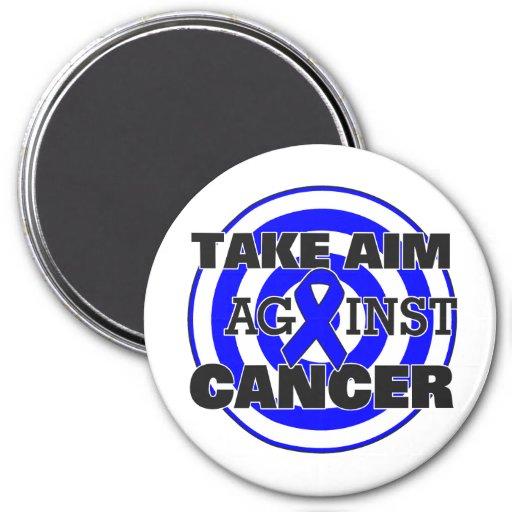 Colon Cancer Take Aim Against Cancer Fridge Magnets