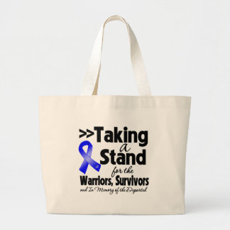 Colon Cancer Taking a Stand Tribute Jumbo Tote Bag