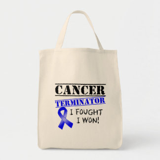 Colon Cancer Terminator Grocery Tote Bag