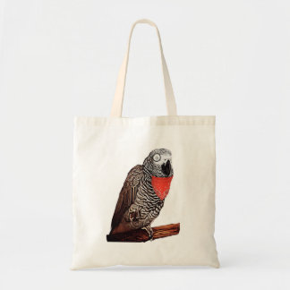 Colonel African Grey Parrot Tote Bag