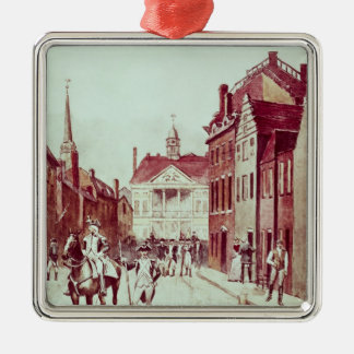 Colonel and Private, First Continental Rhode Christmas Ornament