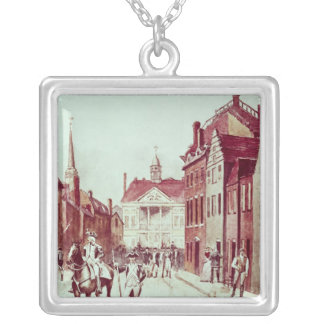 Colonel and Private, First Continental Rhode Silver Plated Necklace