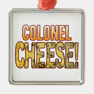 Colonel Blue Cheese Silver-Colored Square Decoration