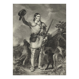 Colonel Davy Crockett 1839 Poster