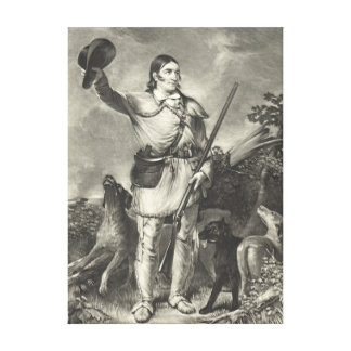 Colonel Davy Crockett 1839 Stretched Canvas Print