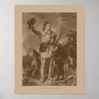 Colonel Davy Crockett Poster
