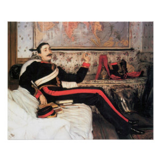 Colonel Frederick Gustavus Burnaby by James Tissot Poster