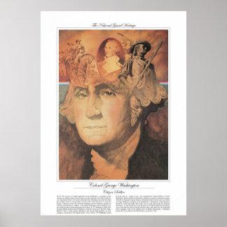 COLONEL GEORGE WASHINGTON Citizen Soldier Poster