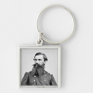 Colonel Strother, 3rd WV Cavalry, 1860s Silver-Colored Square Key Ring
