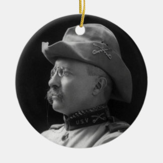 Colonel Theodore Roosevelt from 1898 Round Ceramic Decoration