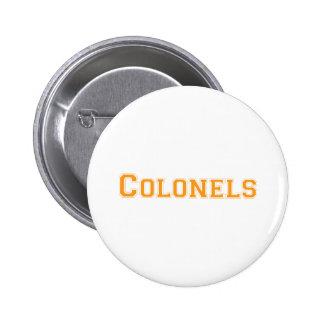 Colonels square logo in orange 6 cm round badge