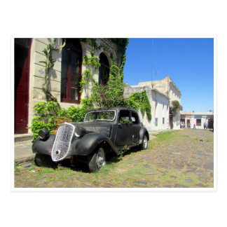 colonia vintage car postcard