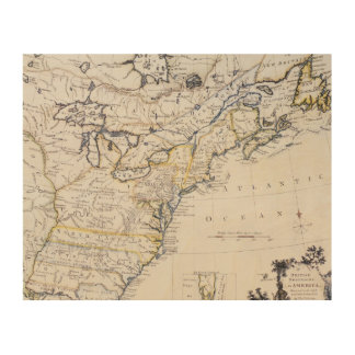 COLONIAL AMERICA: MAP, c1770 Wood Wall Art