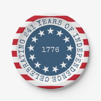 Colonial American Flag 1776 Patriotic Paper Plate