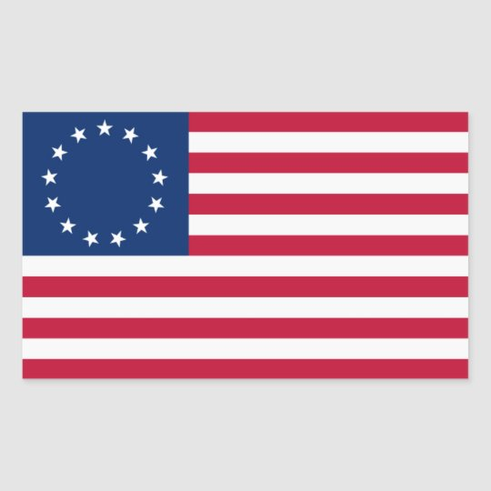 Colonial American Flag Stickers