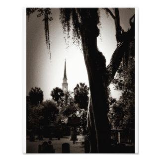 Colonial Cemetery, Savannah (Black And White) Photo Art