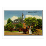 Colonial coach in front of capitol Williamsburg VA Postcard