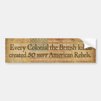 Colonial Lessons Bumper Sticker