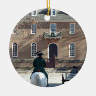 Colonial Williamsburg Man on Horse Christmas Ornament