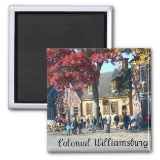 Colonial Williamsburg Square Magnet