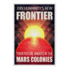 Colonisation of Mars Retro Sci-Fi Illustration Poster