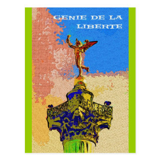Colonne de Juillet, Paris (Spirit of Freedom) Postcard
