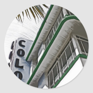 Colony Hotel, Miami Classic Round Sticker