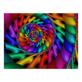 Color 11 Abstract Art Poster