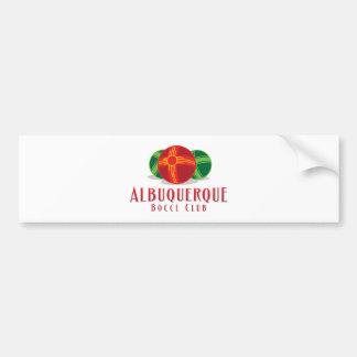 Color ABQ Bocce Club Car Bumper Sticker