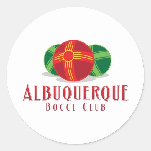 Color ABQ Bocce Club Round Sticker