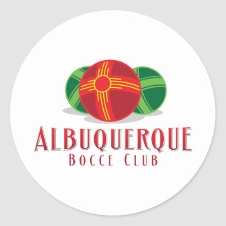 Color ABQ Bocce Club Round Sticker