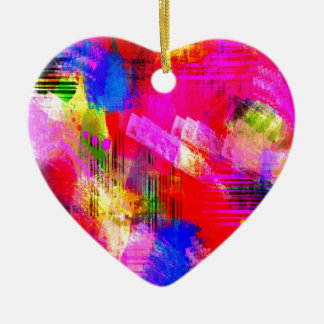 color abstract (13) ceramic heart decoration