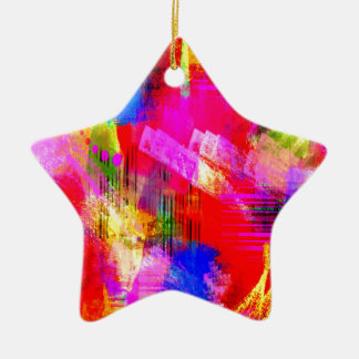 color abstract (13) ceramic star decoration